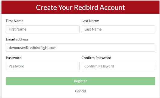 Create Your Redbird Account