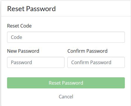 Change Password button