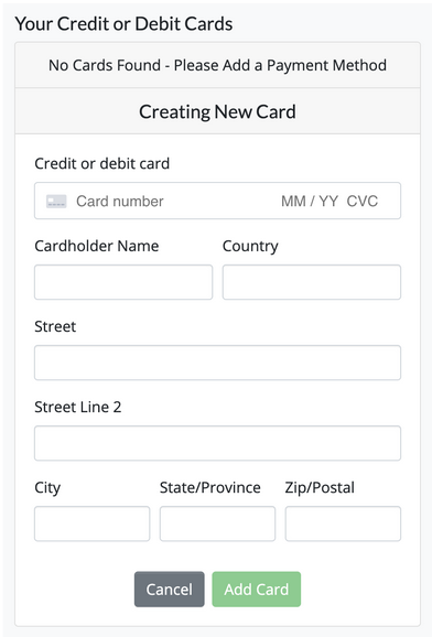 Creating New Card