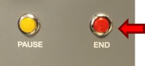END button on the switch panel of a Redbird AATD