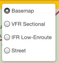 Map Layers menu
