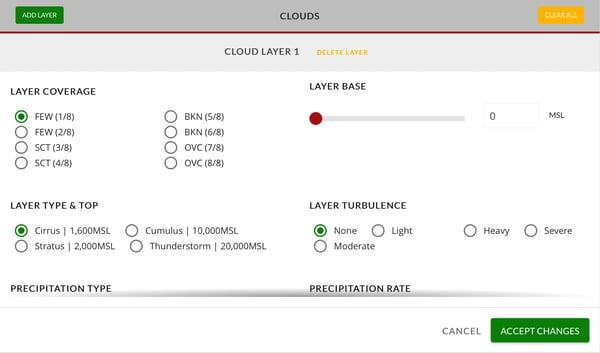 Add Cloud Layer menu