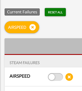 Timed Failure set but not yet failed toggle and indicator