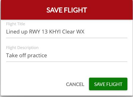 Save Flight fields