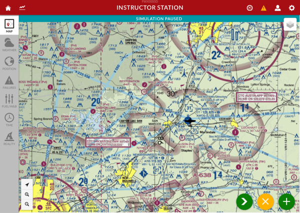 Instructor Station default screen - map