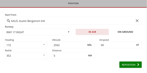 Reposition In Air menu