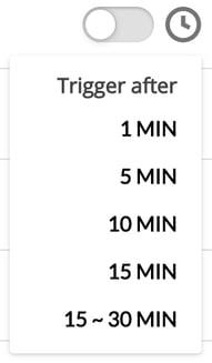 Failure Timer Trigger menu