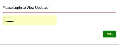 Updates Tab login screen