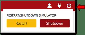 Power button on Navigator UI