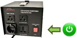 Where to turn on power converter