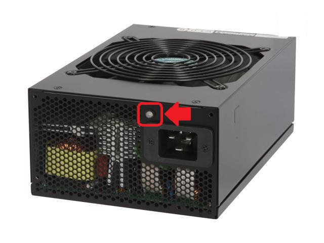 Silverstone Power Supply with Status Light Highlighted