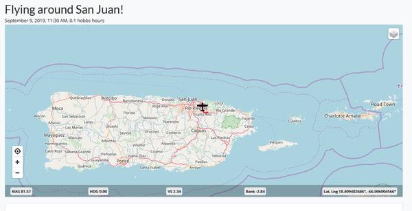 Flying Around San Juan map