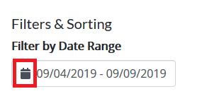 Filter By Date Range field