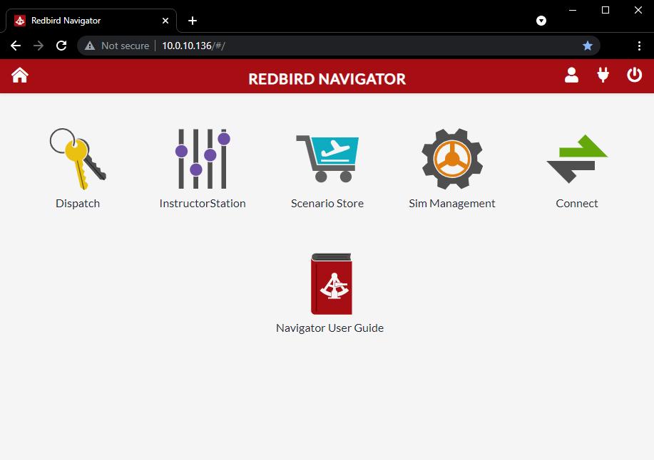 Redbird Navigator running in web browser