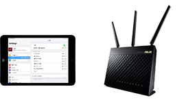 iPad and wireless router