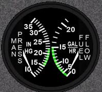 Manifold Pressure & Fuel Flow Indicator